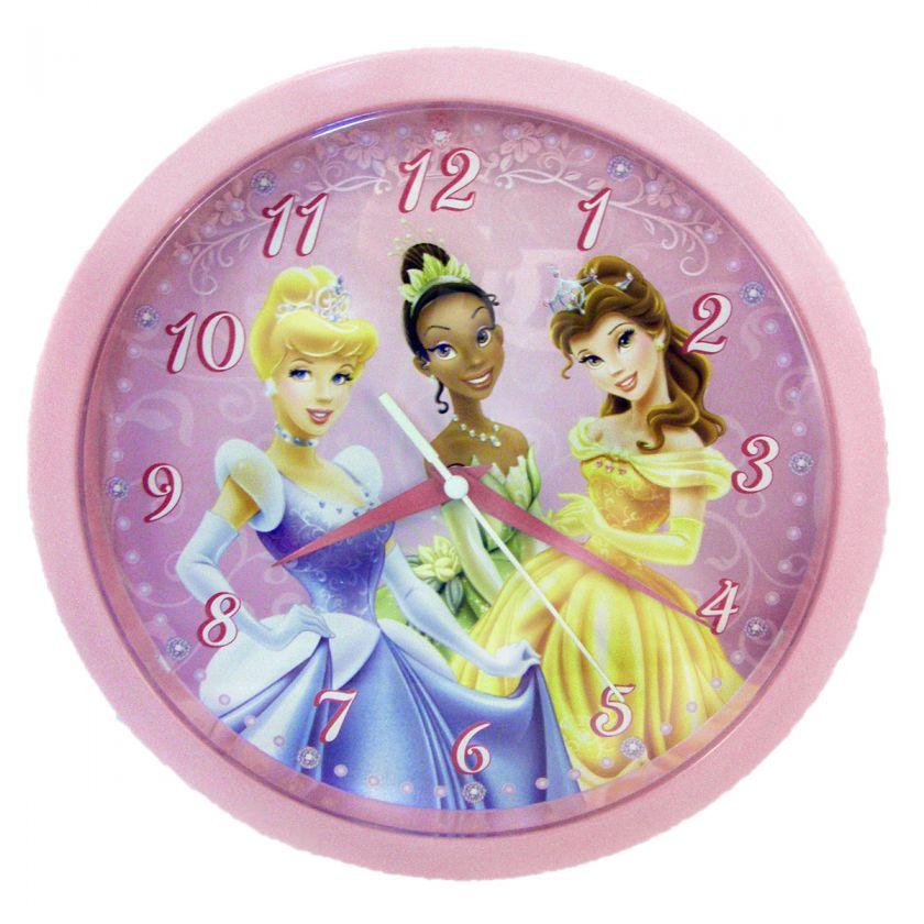 NEW Disney Princess Cinderella Tiana Belle Kids Wall Clock 10