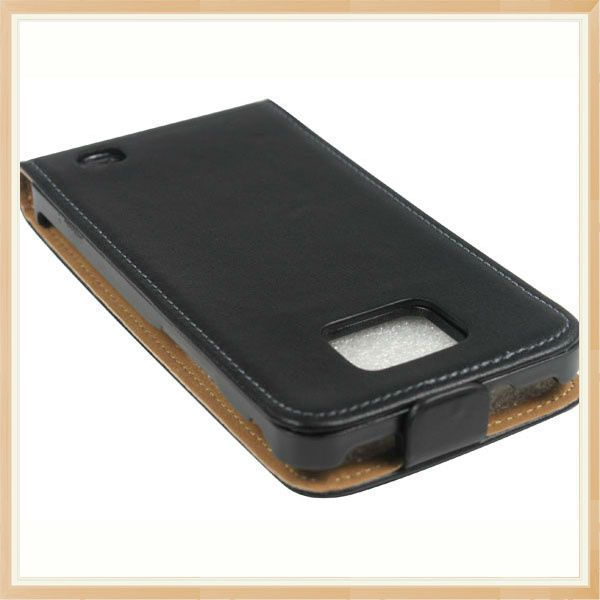Slim Leather Flip Case Cover for Samsung i9100 Galaxy S2 High Quality