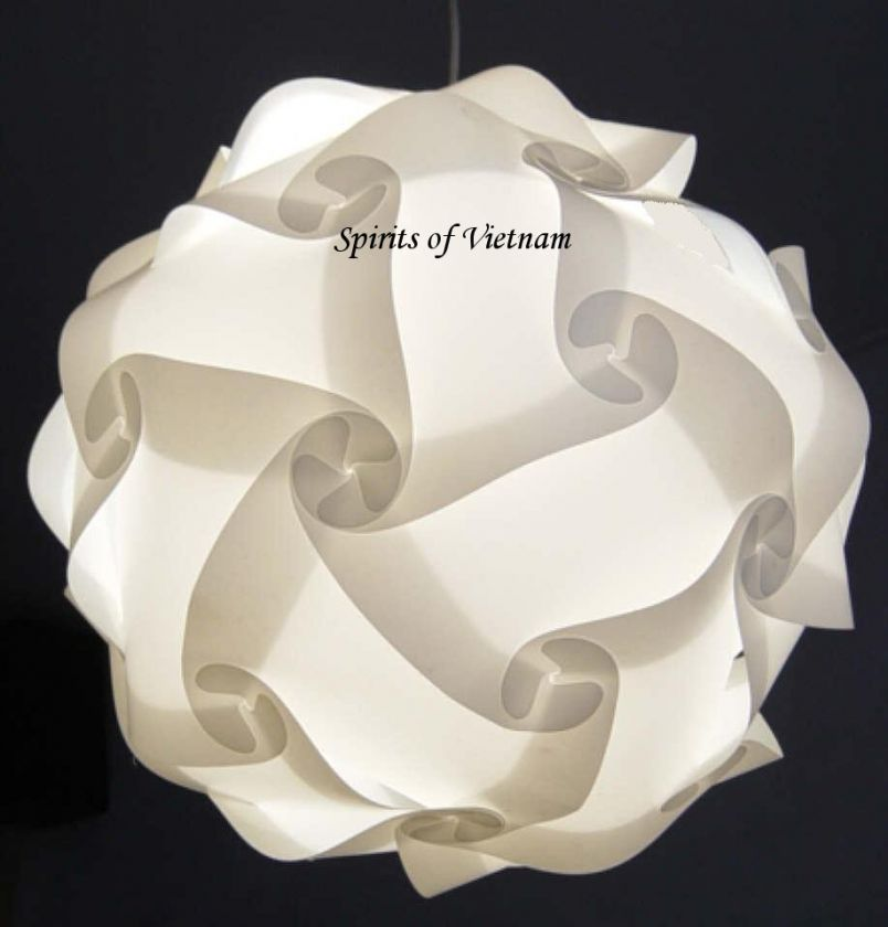 White IQ Light Lamp Shade Modern Design Modern Deco Puzzle Jigsaw