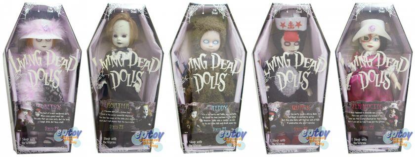 Mezco Living Dead Dolls Series 23 Action Figures Set Jennocide Teddy