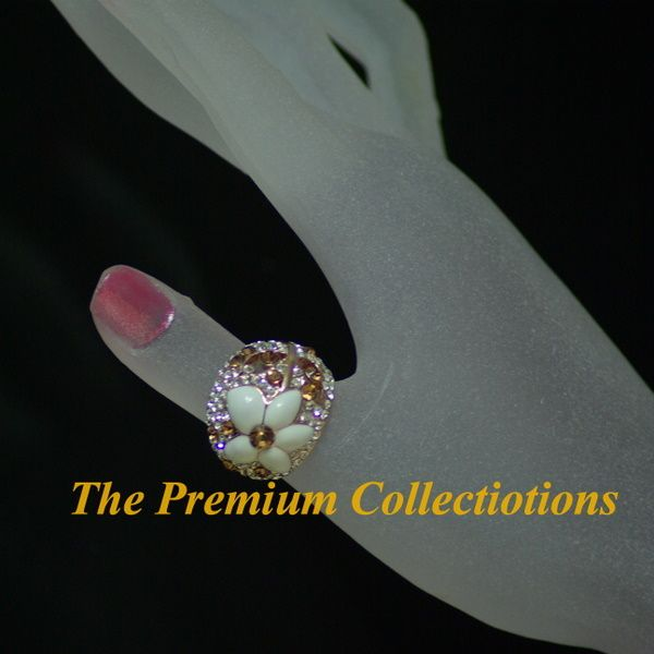 Ring Flora w Swarovski Crystal 18K Rose Gold Plated