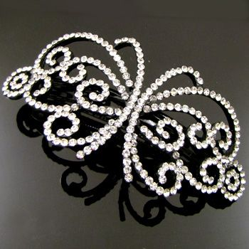 ADDL Item , 1pc rhinestone crystal flower hair barrette