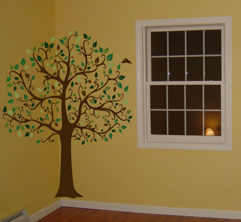 FT. BIG TREE BROWN & GREEN WALL DECAL Sticker Mural